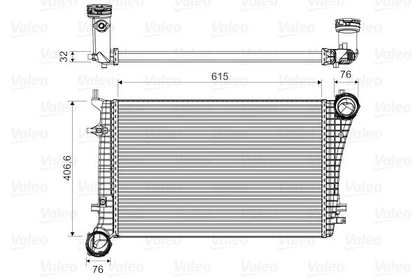 Intercooler radiateur de turbo VALEO 818675 (X1)