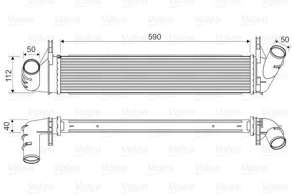 Intercooler radiateur de turbo VALEO 818678 (X1)