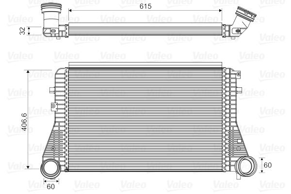 Intercooler radiateur de turbo VALEO 818795 (X1)