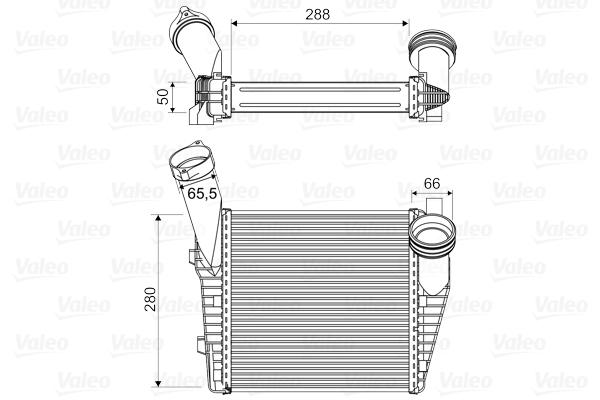 Intercooler radiateur de turbo VALEO 818814 (X1)
