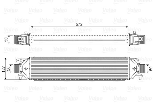 Intercooler radiateur de turbo VALEO 818824 (X1)