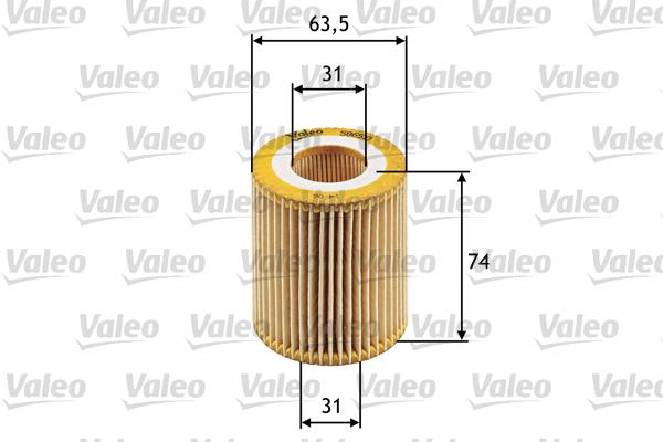Filtre a huile VALEO 586510 (X1)