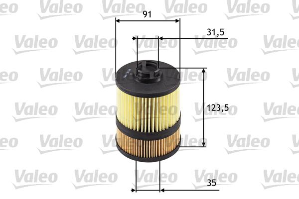 Filtre a huile VALEO 586549 (X1)
