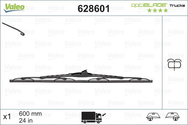 Balai d'essuie-glace avant VALEO 628601 (X1)