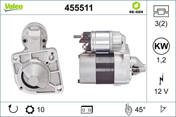 Demarreur VALEO 455511 (X1)
