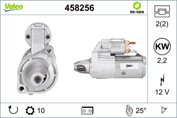 Demarreur VALEO 458256 (X1)