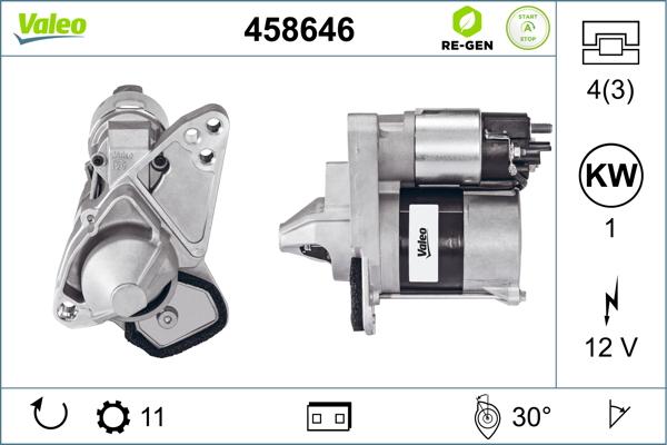 Demarreur VALEO 458646 (X1)