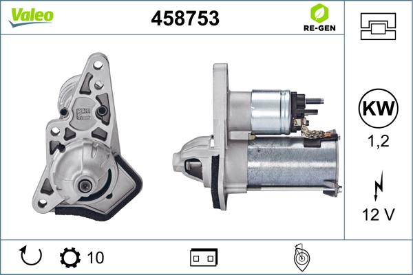 Demarreur VALEO 458753 (X1)