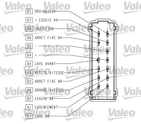 Commutateur de colonne de direction VALEO 251566 (X1)