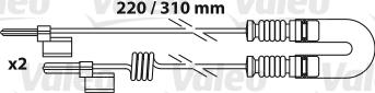 Kit de plaquettes de frein, frein à disque VALEO 541655 (Jeu de 4)