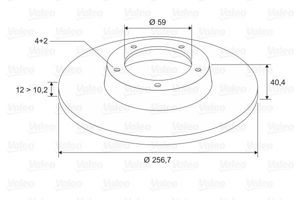 Disque de frein VALEO 186154 (Jeu de 2)
