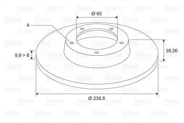 Disque de frein VALEO 186249 (Jeu de 2)