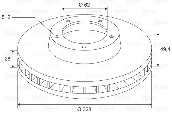 Disque de frein VALEO 197692 (X1)