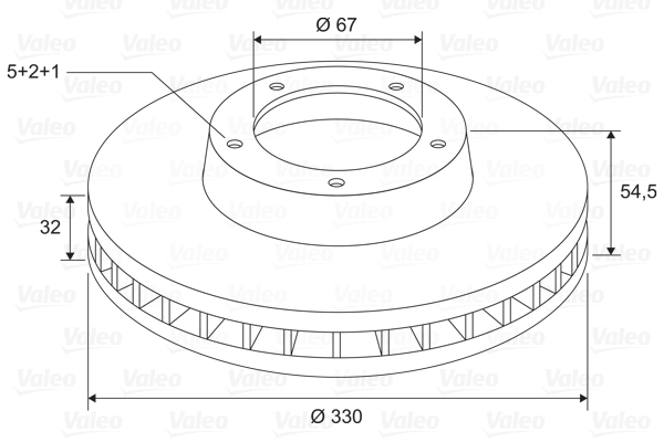 Disque de frein VALEO 197744 (X1)