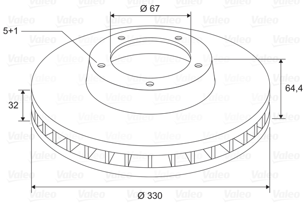 Disque de frein VALEO 197767 (X1)