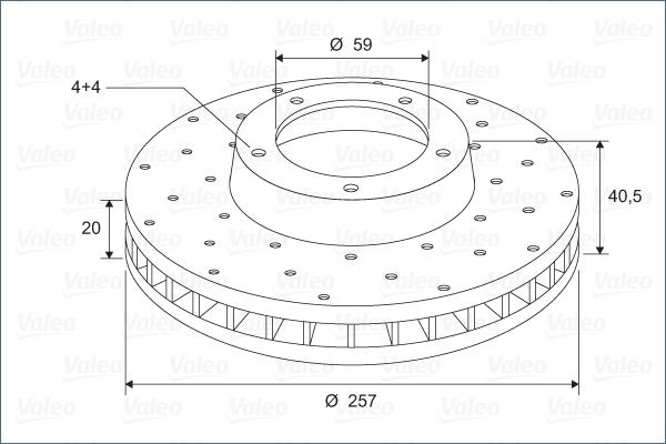 Disque de frein avant VALEO 886153 (Jeu de 2)