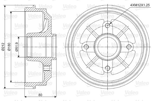 Tambour de frein arriere VALEO 237001 (X1)
