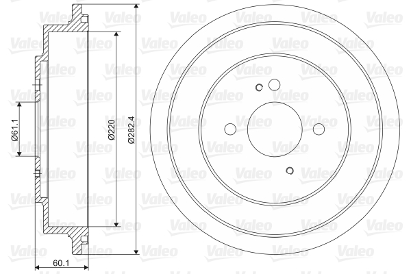 Tambour de frein arriere VALEO 237017 (X1)