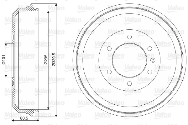 Tambour de frein arriere VALEO 237019 (X1)