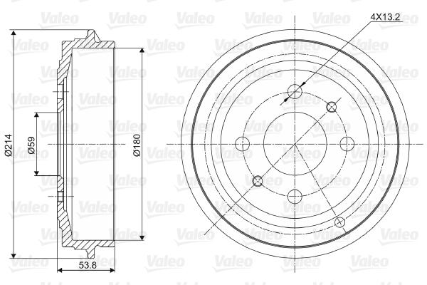 Tambour de frein arriere VALEO 237027 (X1)