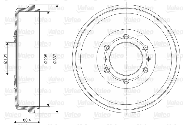 Tambour de frein arriere VALEO 237060 (X1)