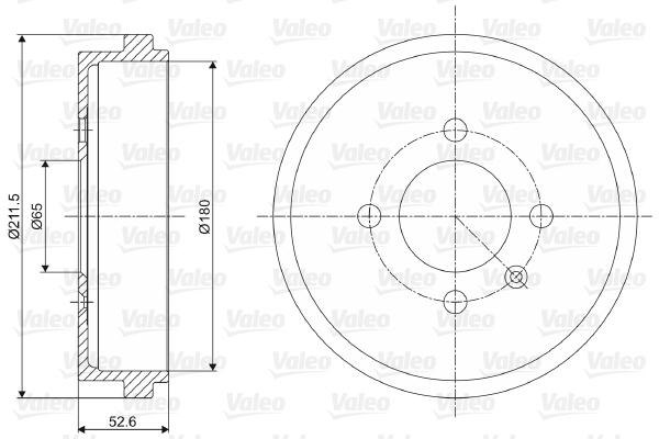 Tambour de frein arriere VALEO 237073 (X1)
