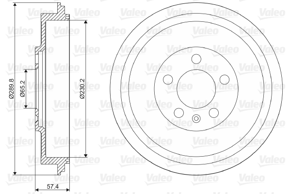 Tambour de frein arriere VALEO 237085 (X1)