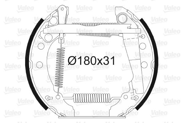 kit de frein arrière simple ou prémonté VALEO 554627 (X1)