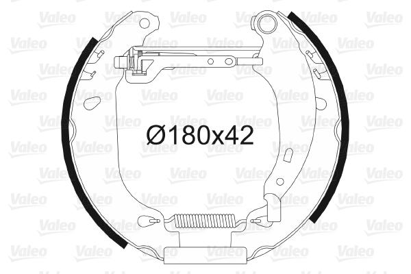 kit de frein arrière simple ou prémonté VALEO 554637 (X1)