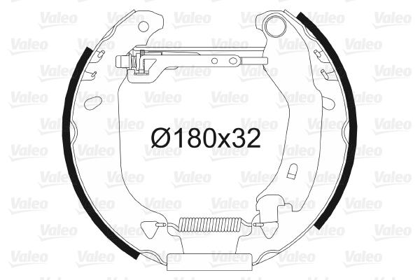 kit de frein arrière simple ou prémonté VALEO 554674 (X1)