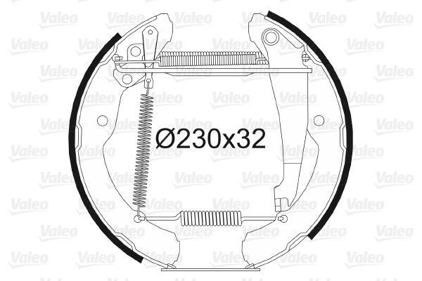 kit de frein arrière simple ou prémonté VALEO 554731 (X1)