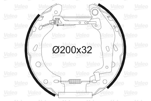 kit de frein arrière simple ou prémonté VALEO 554763 (X1)