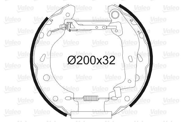 kit de frein arrière simple ou prémonté VALEO 554787 (X1)