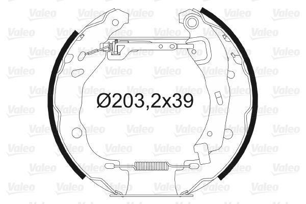 kit de frein arrière simple ou prémonté VALEO 554851 (X1)