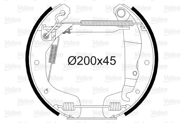 kit de frein arrière simple ou prémonté VALEO 554867 (X1)