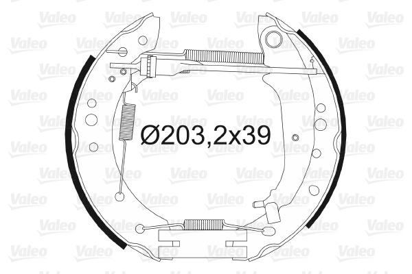 kit de frein arrière simple ou prémonté VALEO 554885 (X1)