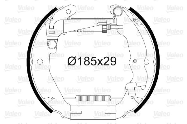 kit de frein arrière simple ou prémonté VALEO 554899 (X1)