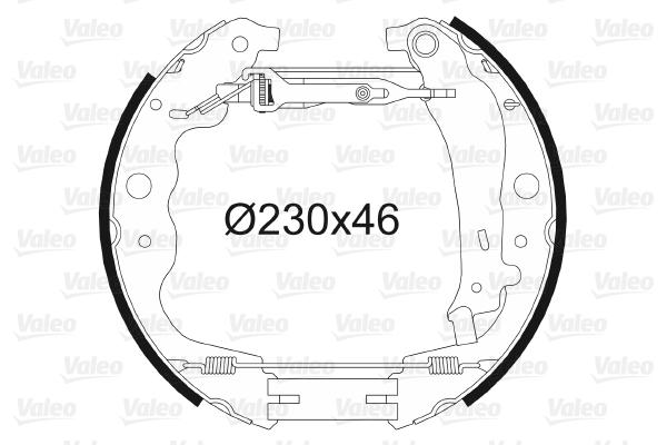 kit de frein arrière simple ou prémonté VALEO 554901 (X1)