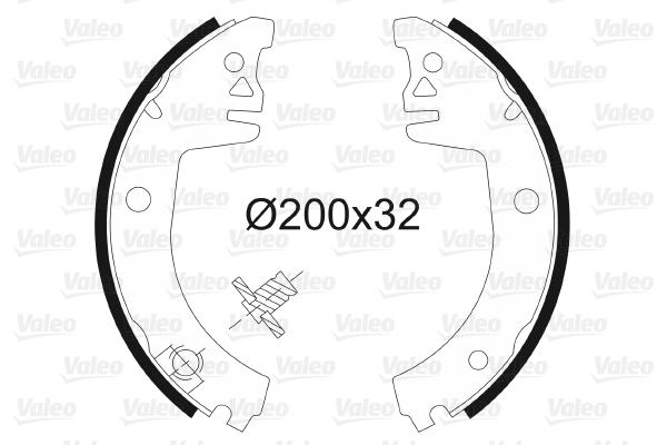 kit de frein arrière simple ou prémonté VALEO 562574 (X1)