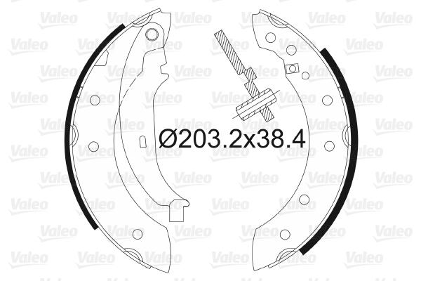 kit de frein arrière simple ou prémonté VALEO 562581 (X1)