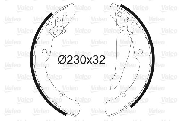 kit de frein arrière simple ou prémonté VALEO 562641 (X1)