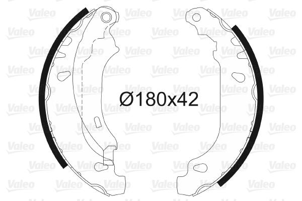 kit de frein arrière simple ou prémonté VALEO 562647 (X1)