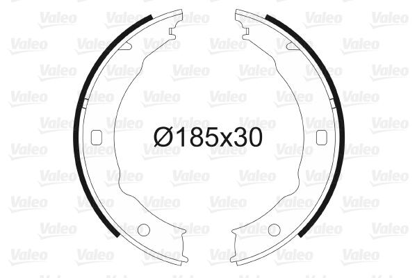Jeu de mâchoires de frein de frein à main VALEO 562738 (X1)