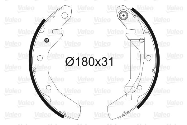 kit de frein arrière simple ou prémonté VALEO 562744 (X1)