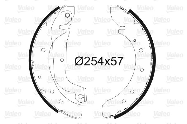 kit de frein arrière simple ou prémonté VALEO 562753 (X1)