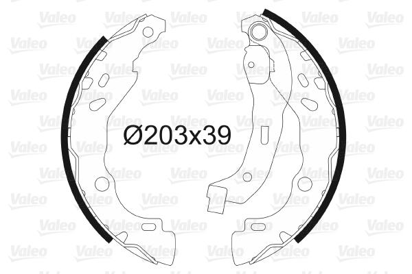kit de frein arrière simple ou prémonté VALEO 562810 (X1)