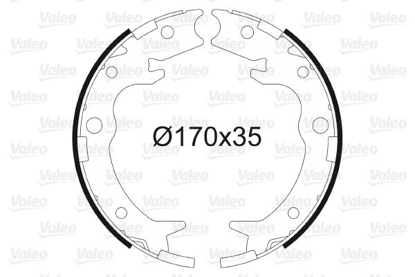 Jeu de mâchoires de frein de frein à main VALEO 564016 (X1)