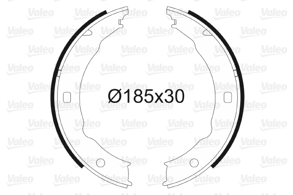 Jeu de mâchoires de frein de frein à main VALEO 564018 (X1)