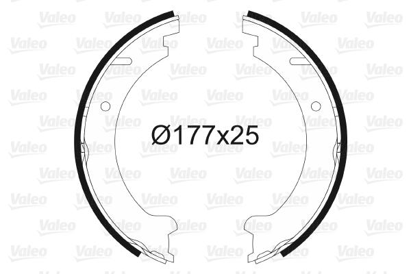 Jeu de mâchoires de frein de frein à main VALEO 564019 (X1)