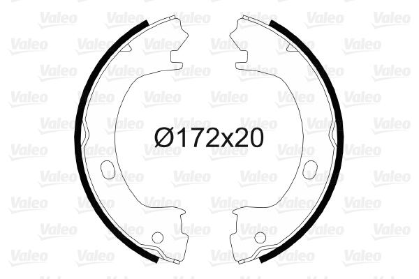Jeu de mâchoires de frein de frein à main VALEO 564057 (X1)